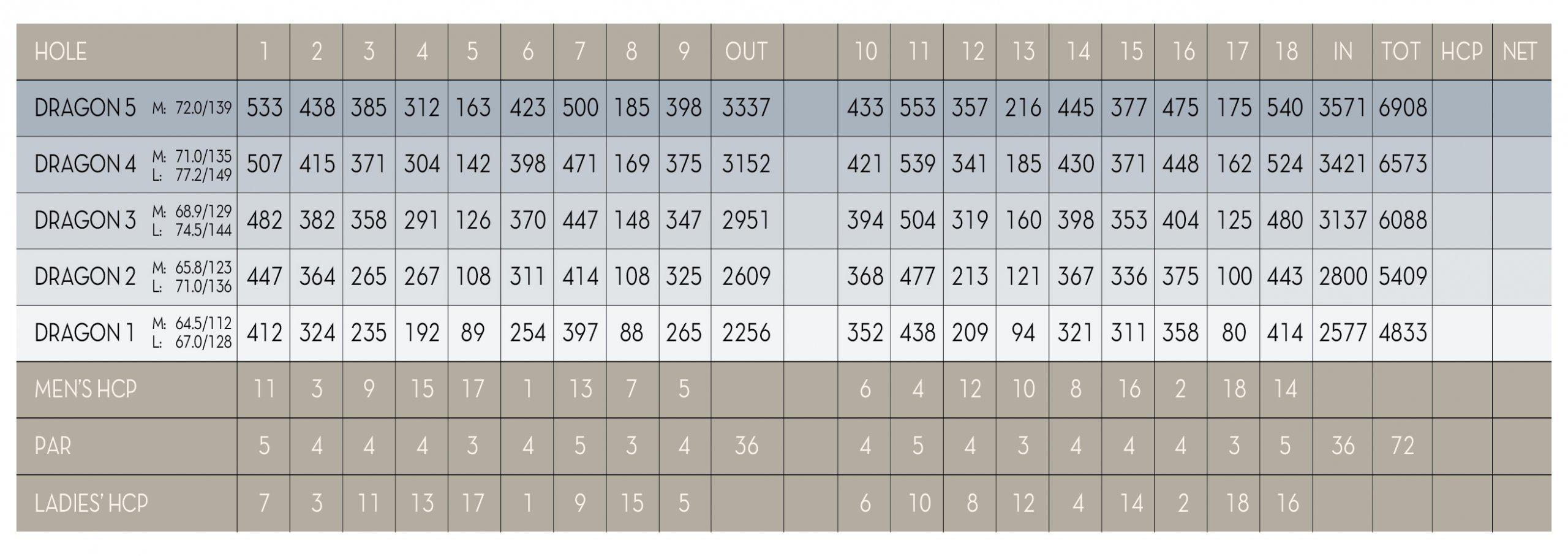 Dragon Scorecard