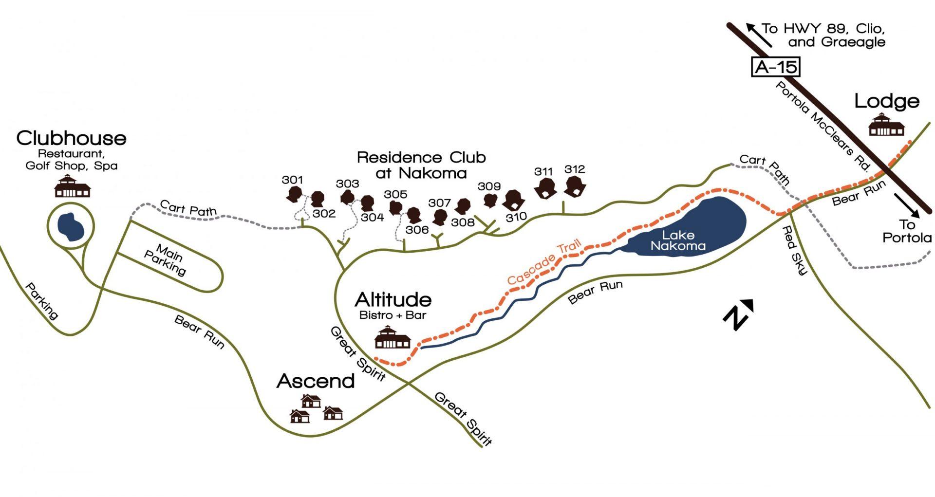 Nakoma Resort map