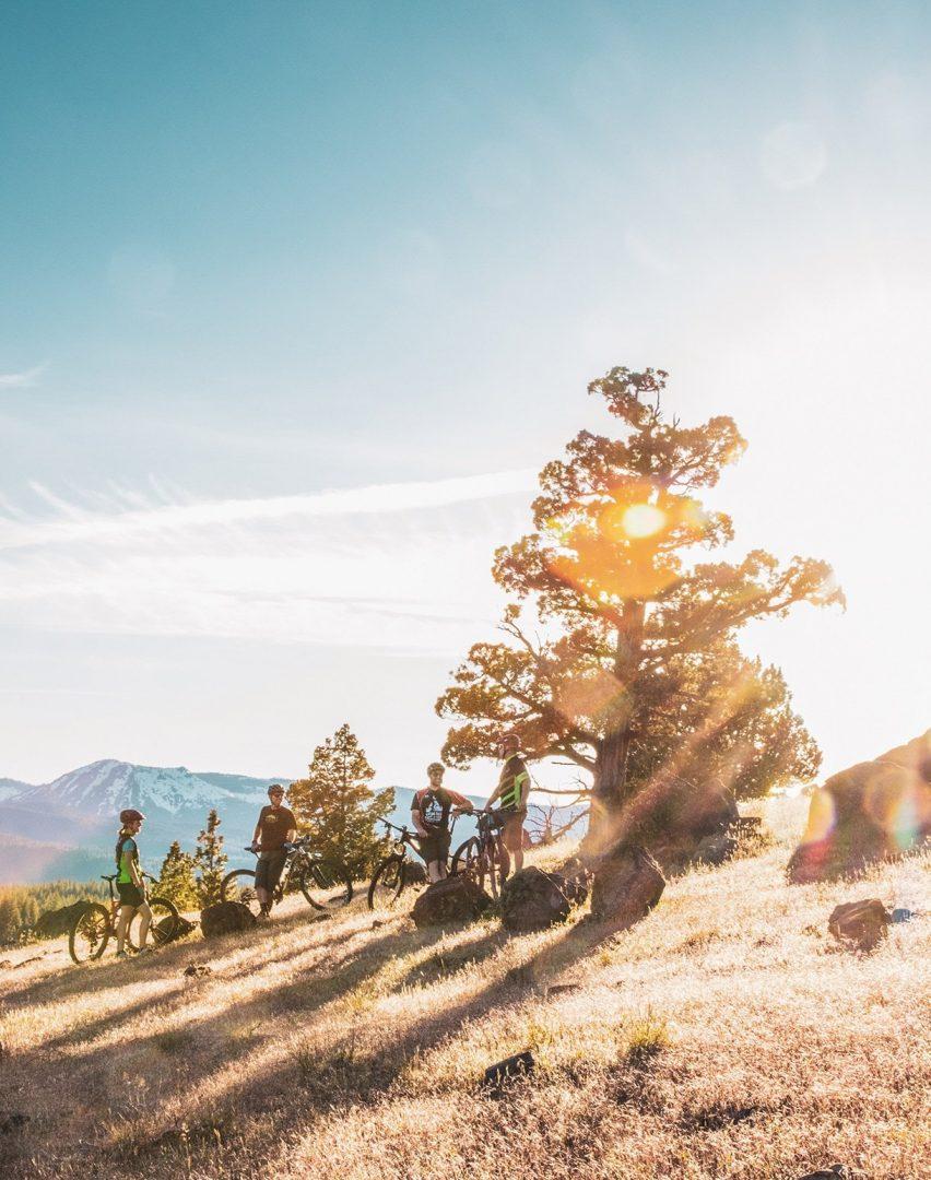 Group Mountain Biking Activity Nakoma Lost Sierra