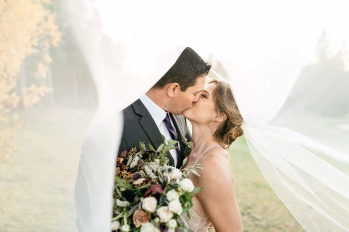 wedding bride and groom tahoe wedding