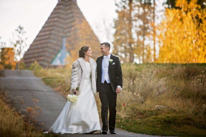 wedding fall leaves